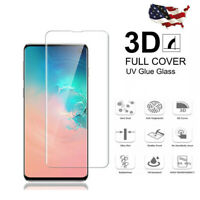 2PCs For Samsung Galaxy S10 S10+ S10e Full Cover Screen Protector Tempered Glass
