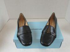 New Antonio Melani Madeli Women's 1873 Black Flats Loafer Leather Sole  Sz 8M