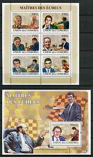 Comoros Comores 2008 MNH Chess Karpov Kasparov Fischer 6v M/S 1v S/S Stamps