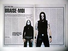 COUPURE DE PRESSE-CLIPPING :  SATYRICON [2pages] 12/2002 Satyr,Volcano