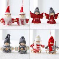 2pc/Set Christmas Angel Plush Doll Pendant Ornament Xmas Tree Hanging Decor Gift