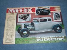 "1930 Ford Model A 5-Window Highboy Coupe Hot Rod Article ""Devil's Ride"""