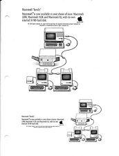 Mint! 1985 Apple Advertising Sheet for Macintosh Family - 128K/512K/Mac XL