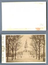 Pays-Bas, La Haye Le monument National  CDV vintage albumen carte de visite,