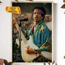 Jimi Hendrix at Newport Pop Festival 1969 Signed Reprint Tribute Photo Poster