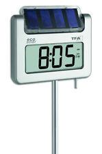 SOLAR GARTENTHERMOMETER AVENUE PLUS TFA 30.2030.54 FUNKUHR SOLAR-LEUCHT-LCD