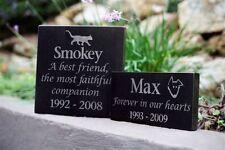 Pet Memorial Plaque - Granite Personalised - Made to Order