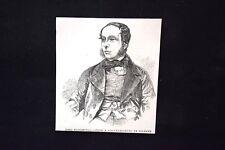 Lord Torrington - Da un Dagherrotipo di Kilburn Incisione del 1851