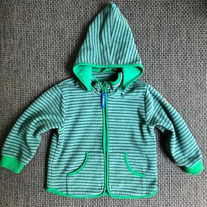 Finkid Tonttu Stripe, 90/100, grün, Zip in Jacke