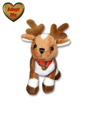 Ganz Brown Little Reindeer In Red Bandana Christmas Winter Stuffed Plush Animal