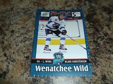 2015-16 BLAKE CHRISTENSEN WENATCHEE WILD BCHL BCJHL SINGLE PLAYER CARD