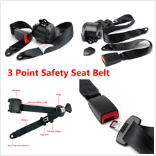 1Pcs/Set 3 Point Safety Adjustable Retractable Auto Car Seat Belt Lap Universal