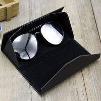 Leather Foldable Sunglasses Eyeglass Eyewear Box Magnetic Hard Case Keys Holder