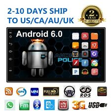 "Quad Core Android 6 3G WIFI MP5 7"" Double 2DIN car Radio stereo player GPS Nav a"
