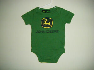 JOHN DEERE GREEN Body Snap Suit Infant Youth Size 3/6 Months