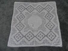 Antique Swiss Appenzell Bridal Handkerchief Embroidered Linen N°1