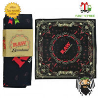 Genuine RAW Rolling Papers Branded Red, Black & White Bandana UK