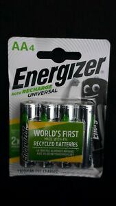 Energizer ACCU AA Rechargeable Universal Batteries 1300mAh Pack Of 4