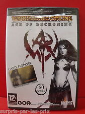 WARHAMMER ONLINE Age Of Reckoning - JEU PC NEUF SOUS BLISTER Avec Carte