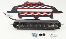 MODQUAD 2-PANEL FRONT GRILL BLACK/RED W/10 LIGHT BAR PART# RZR-FGLS-XP-RD NEW