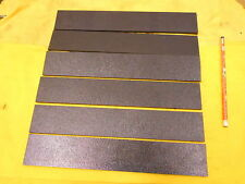 "6 pc LOT of BLACK ABS PLASTIC BAR machineable sheet flat stock 3/16"" x 2"" x 12"""