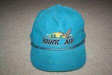 HTF Vintage Hawk Air Fly-In Flyfish Baseball Cap Teal Corduroy Snapback Canada