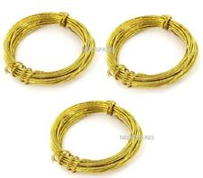 10m+ BRASS PICTURE WIRE Heavy Duty Long Cable/Cord Mirror/Photo Wall Hanging