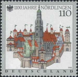 Germany 1998 Nordlingen/Church/Towers/Town Buildings/Architecture 1v (n46436)