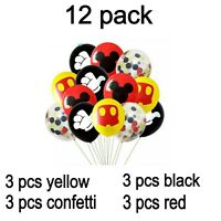 Mickey Minnie Mouse Latex Balloon Set For Birthday Colorful Balloon Party Decor