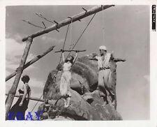 Elaine Stewart bound w/rope, John Derek VINTAGE Photo Adventures Of Haji Baba
