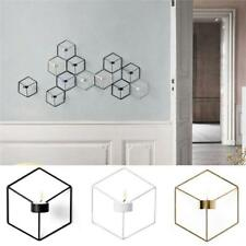 Nordic Style Geometric Candlestick Metal Wall Sconce Home Candle Decoration DM
