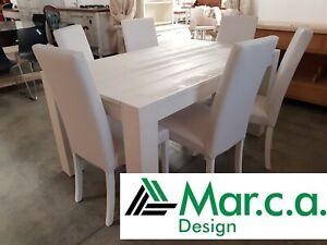 Table IN Oak Brushed, White Matt, Various Sizes - 2 Extending