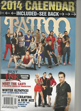 TATTOO WORLD'S LARGEST SELLING TATTOO MAGAZINE JANUARY 2014, W/ FREE CALENDAR