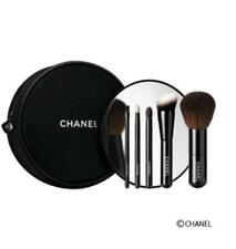 CHANEL Les Mini De Chanel Set makeup brushes Holiday 2016 Coco Novelty Authentic