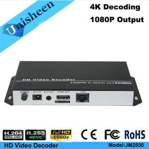 H.265/ H.264 4K HDMI+AV /CVBS /RCA top box & PC transmitter IP Video Decoder