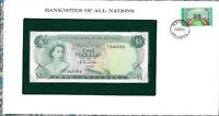 Banknotes of All Nations Bahamas 1 dollar 1974 UNC P-35a Prefix K/1 Donaldson