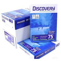NEW DISCOVERY A4 75GSM WHITE PAPER CHEAP COPIER PRINTER LASER COPY HOME OFFICE