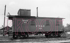 Fort Worth & Denver (FW&D) Caboose 66 at Wichita Falls, TX in 1953 - 8x10 Photo