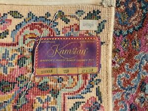 "Vintage/Antique Karastan Kirman #759 Multi-Color Worsted Wool Rug 8' 8"" x 10' 8"""