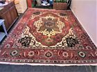 Vintage Hand Knotted Serapi Rug made in India from Heriz Tribe Area