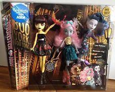 Monster High Boo York 3 Pack Elle mouscedes Luna Rey mothews Muñeca Nuevo Y en Caja Especial