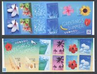 JAPAN 2016 SUMMER GREETINGS (BEACH) 52 & 82 YEN 2 SOUVENIR SHEETS 10 STAMPS MINT