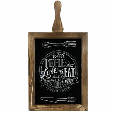 MyGift Rustic Wood Chalkboard Paddle Sign