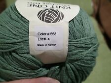 Knit One Crochet too Pea Pods Colorway. Mercerized. 100 grams 262 yards Soft!