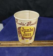1960s Dunkin Donuts Paper Coffee Cup Jumbo Java !!