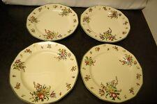 "4 x 9.5"" Dinner Plates Vintage Royal Doulton Old Leeds Sprays D3548"