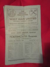 1947-48 West Ham v Portsmouth   Football Combination Cup