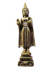Figurine Bouddha debout décoration bronze miniature amulette