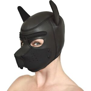 süße Petplay Hundemaske aus Neopren* Puppy Dogplay Fetisch Bondage* Fasching