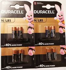 8 x Duracell LR1 E90 N Size 1.5V Extra Long Life Batteries + 40% more power